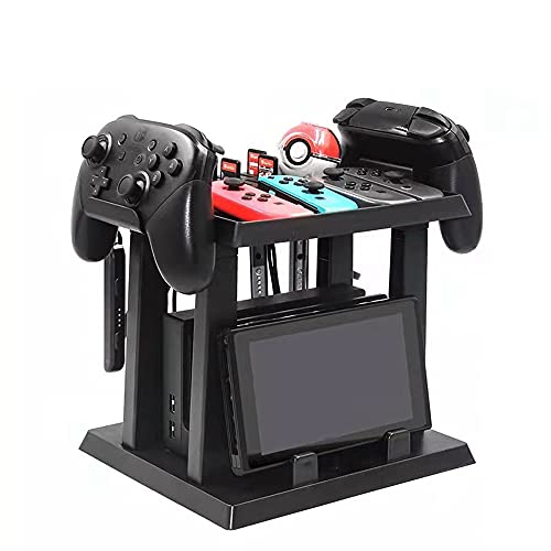 BE-STRONG Organizador De Controlador para Escritorio, Soporte De Almacenamiento Soporte De Controlador para Accesorios De Interruptor De Nintendo Y 2 Controladores Poke Ball Plus