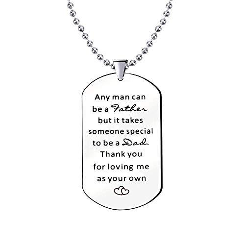 N/A Any Man Can Be A Edelstahl Hundekette Silber Halskette für Papa