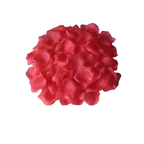 FANFLONA 1000 Coral Rose Petals Artificial Flower Petals For Wedding Party Aisle Decor