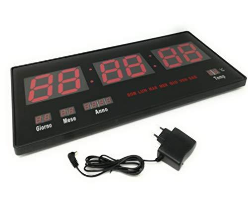 tempo di saldi Orologio Digitale A Led Da Parete Con Datario E Termostato Slim Data Temperatura