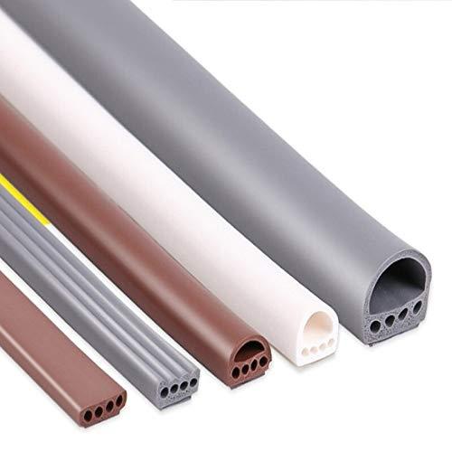 6 meter/partij E/D/I type Siliconen rubber afdichting strip voor deur/raam geluid isolerende strip zelfklevende tape Auto afdichtingen E 9x4bruin