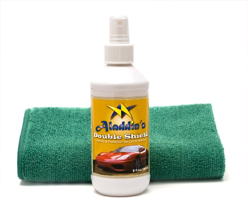 Tantacoat Quick & Easy Liquid Glass Car Polish and Protection - Best Car Wax Alternative - Aladdin's Double Shield 8oz. With Free Detailing Towel
