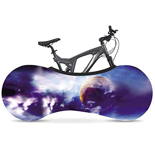 YRDDJQ Scenic Series Fahrrad Staubschutz Elastic Fabric Rennrad Indoor Reifen Schutzhülle Fahrradzubehör