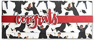 Porta soldi - laurea - congratulations - busta portasoldi (formato 22 x 9,5 cm) + biglietto d'auguri vuoto all'interno - i...