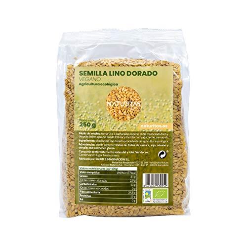 Semilla de Lino Oro Bio 250gr   Vegan   Anti-inflamatorio