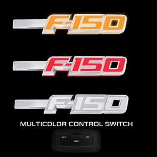 2009-2014 F-150 Light Up Chrome Fender Emblems - Red White or Amber