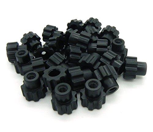 Fasten Tight Black Nylon - 10-24 Knurled Thumb Nuts 25pack