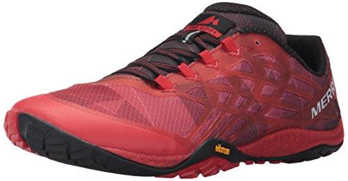 Merrell Trail Glove 4, Zapatillas de Correr Hombre, Rojo (Molten Lava), 49 EU