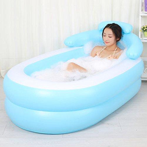 Klapp Badewanne Aufblasbare erwachsene Baby-Badewanne und Sitze Eltern-Kind Falten Portable Faltbare Badewanne Plastik Trip Duschbad Faltbare Badewanne