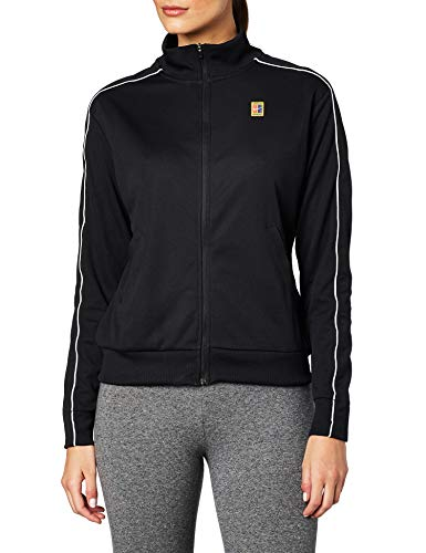 Nike Damen W NKCT WARM UP Jacket Sport, Black/Black/(White), L