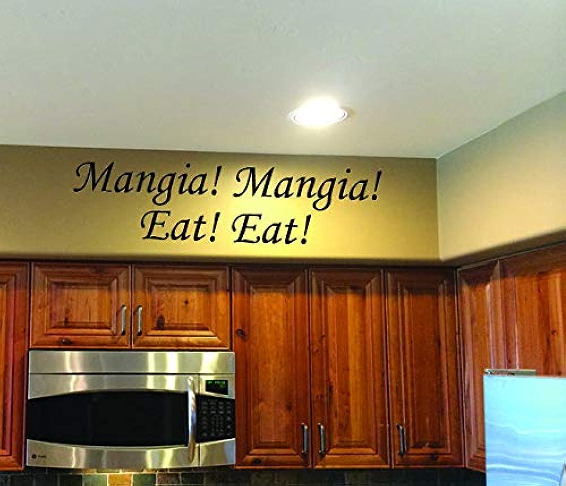 Italian Kitchen Decor Mangia Mangia Eat Eat Vinyl Wall