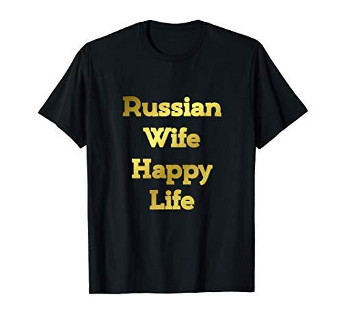 Russian Wife Happy Life Fun CCCP USSR Putin Soviet Vodka Red T-Shirt