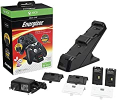 PDP Gaming Energizer Dual Controller Charging System, Two Rechargeable Battery Packs: Black - Xbox One