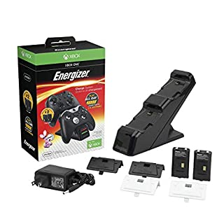 PDP Energizer Xbox One Controller Charger with Rechargeable Battery Pack for Two Wireless Controllers Charging Station Black (Package may Vary) - Standard (Black) Edition (B00EADTVLW)   Amazon price tracker / tracking, Amazon price history charts, Amazon price watches, Amazon price drop alerts