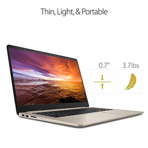 """Product Image 6: ASUS VivoBook S Ultra Thin and Portable Laptop, Intel Core i7-8550U Processor, 8GB DDR4 RAM, 128GB SSD+1TB HDD, 15.6"""" FHD WideView Display, ASUS NanoEdge Bezel, S510UA-DS71"""