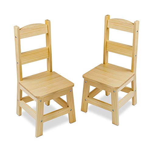Melissa & Doug Wooden Chair Pair - Natural