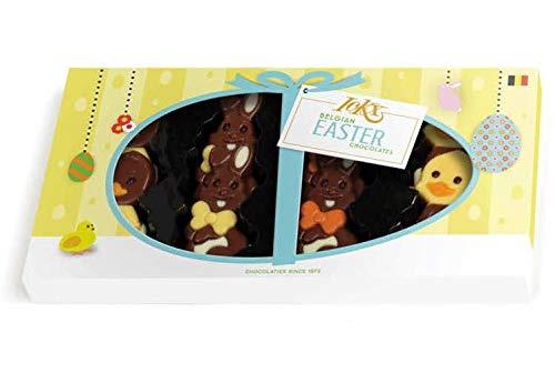 Ickx CioccoConfezione Regalo Ovetti e Soggetti di Pasqua in Cioccolato Assortito - 1 x 95 Grammi