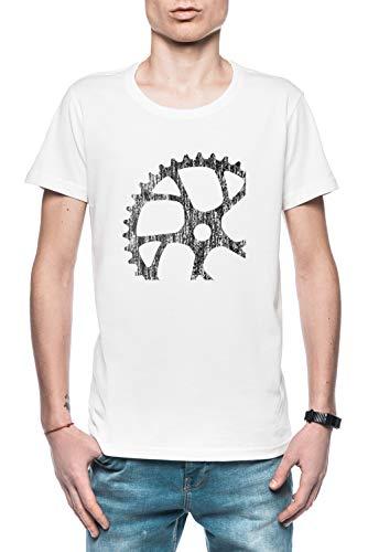Bicicleta Diente Hombre Camiseta Blanco Todos Los Tamaños - Men's T-Shirt White