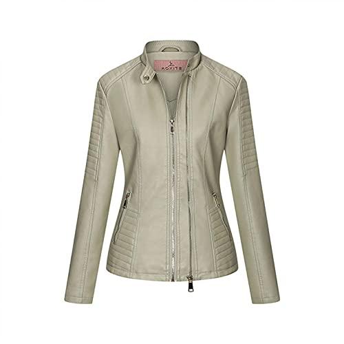 미사키 여성 바이커 재킷 라펠 모터 재킷 코트 ZIP BIKER 쇼트 펑크 크롭 코트 아웃어웨어