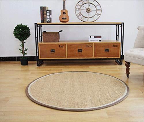 WJY Rond Tapis Corridor Salon Chambre Table Basse Canapé Etude Moquette De Restaurant pour Vestiaire (Personnalisable) (Size : 100CM)