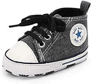 Baby Boys Girls Canvas Shoes Basic Sneakers Lace Up...