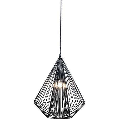 Kare Design Hängeleuchte Modo Wire, moderne, schmale Designer Pendelleuchte, geometrische Hängelampen, Stahl, Schwarz (H/B/T) 42,5x31,5x31,5cm