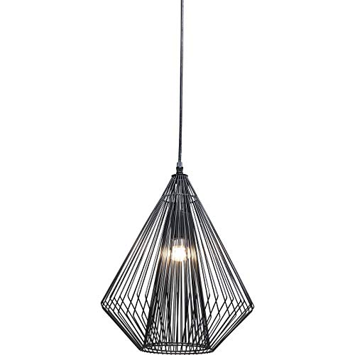 Kare Lámpara Colgante, Modo Wire, Negro, 38 x 31 x 31 cm