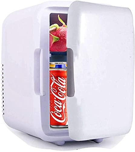 Mini refrigerador portátil para coche, refrigeración y calentamiento de doble propósito, adecuado para dormitorio, oficina, bebidas, minibar, nevera pequeña, color blanco