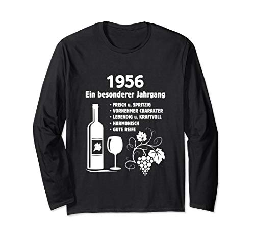 Geburtstag Geschenk Wein Vintage - Besonderer Jahrgang 1956 Langarmshirt
