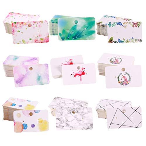 Milageto 900x Halskette & Ohrringkarten Leere Schmuckkarten Papierschmuck Grafikkarte