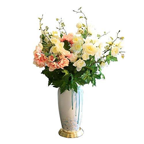 WJMLS Keramikvase für Blumen Handgemachte Blumenvase für Wohnkultur Wohnzimmer, Küche, Tisch, Haus, Büro, Hochzeit, Herzstück