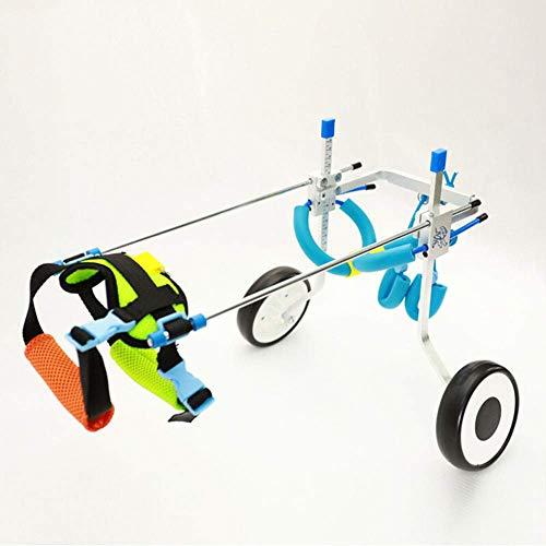 Baby Safe Hond rolstoel Huisdier scooter licht Verstelbare invaliditeit Wandelen de hond Revalidatie werk uit Kat en hond Hind ledemaat Beenletsel (Maat: L)