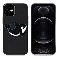 かわいいシャチ(シャチ)ロゴ iPhone 12&iPhone 12 Pro&iPhone 12Pro Max&iPhone 12 miniと互換性のあるクリスタルクリアTPUケース、アンチイエロー、保護耐衝撃落下保護ケース