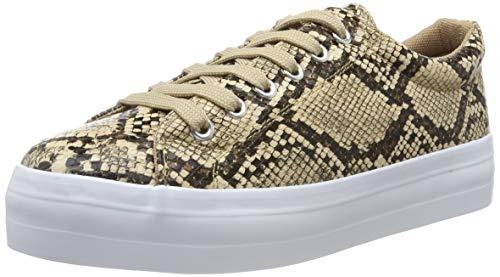 PIECES Damen PSCARMA Snake Sneaker, Mehrfarbig (Natural Natural), 37 EU