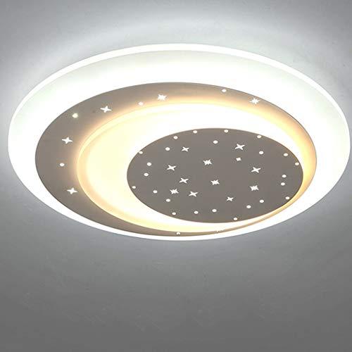 SPNEC Fuente de luz LED Redonda Fina lámpara de Techo de la Sala de la lámpara romántica cálido Ambiente Casa Dormitorio de la lámpara de Habitaciones (Color : White)