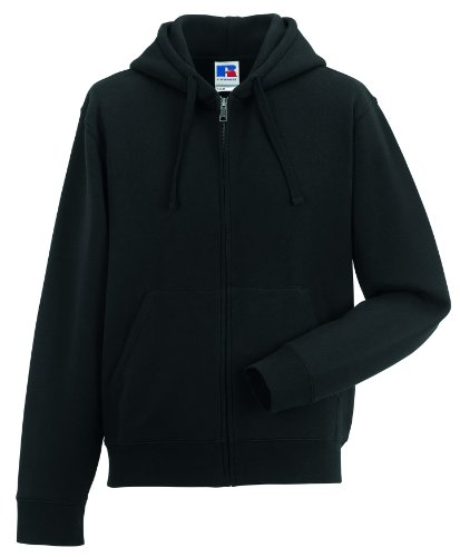 Russell Z266 Authentic Hooded Sweatjacke Sweatshirtjacke Jacke mit Kapuze, Farbe:Black, Herrengrößen:XL