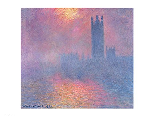 Seagulls - The River Thames and Houses of Parliament London Poster Print by Claude
