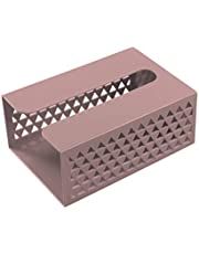 unkonw Caja de pañuelos organizador de almacenamiento autoadhesivo montado en la pared servilleta de papel dispensador para baño, cocina, hogar, oficina