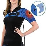 Neopren Verstellbare Schulterbandage, Wärme-Therapie-Pad Einstellbare USB-Heizkissen, Gefrorene Schultern, lindern AC-Gelenkschmerzen, Schulterverrenkungen, Passt Männer Frauen