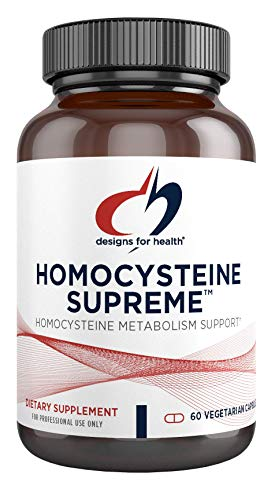 Designs for Health Homocysteine Supreme - Methylation, Detox + Cardiovascular Support Supplement with Folate, Vitamins B12, B2, B6 (P-5-P), NAC + TMG - Non-GMO (60 Capsules)