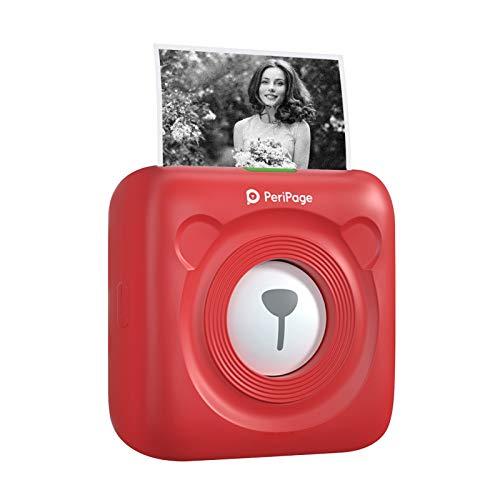 Aibecy Mini Stampante, Stampante termica Pocket portatile Wireless BT Immagine Foto Etichetta Memo Stampante per ricevute con cavo USB Supporto per Android iOS Smartphone Windows PeriPage A6