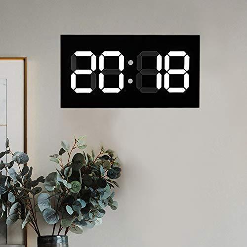 Ichiias Reloj de pared de alta definición, reloj electrónico de protección del medio ambiente, práctico para conferencias domésticas (regulación británica).