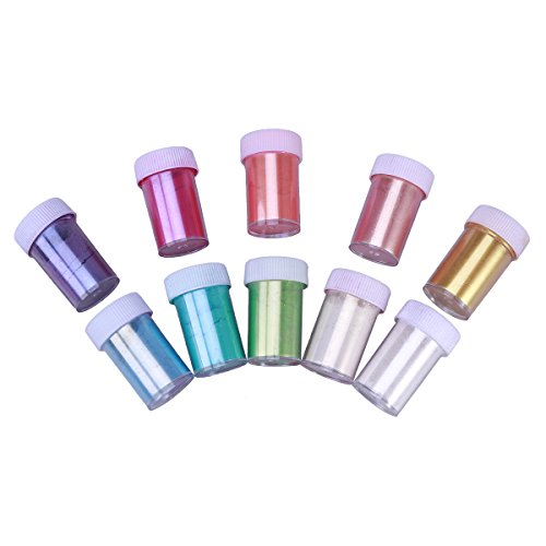 Healifty Makeup-Mica-Pigmente, schimmerndes Puder, Pigmentpuder für Nagelkunst, Lippenstift, Körper, Haar, Seifenerstellung, Lotion, 10 Stück