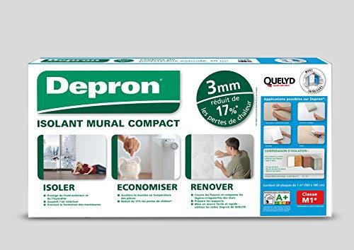Depron Isolierung Quelly Depron Platten Format G3 – Dicke 3 mm – 20 Platten à 1 m² – Platten Depron 3 mm weiß