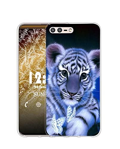 Sunrive Kompatibel mit LEAGOO T5C Hülle Silikon, Transparent Handyhülle Schutzhülle Etui Hülle (Q Tiger)+Gratis Universal Eingabestift MEHRWEG