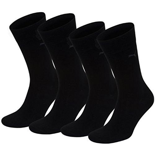 PUMA Classic Casual Business – Lot de 4 Paires de Chaussettes pour Homme, Homme, Nero - Nero/Nero