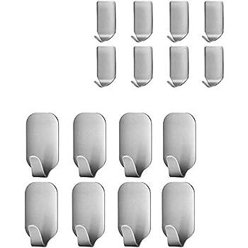 Ganchos/Adhesivos/Para/Pared Colgadores Pared para Toallas de Ba/ño 24 Piezas Gancho de Pared Impermeable Cocina y Ba/ño