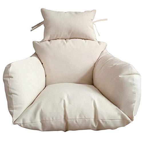 Hangende hangstoel kussens, nest schommelstoel kussen dikke uitneembare stoel terug met kussen rotan wieg mand kussens-b (kleur: B)