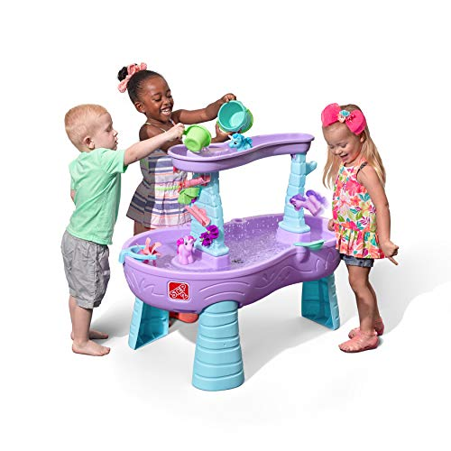 This unicorn Water Table is one of the best backyard water toys for toddlers