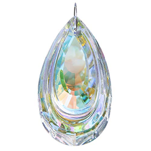 HampD Colorful Suncatcher Crystal Hanging Prism Chandelier Waterdrop 63mm